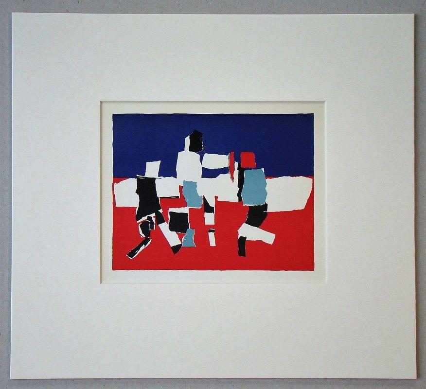 Litografía De Stael - Composition - 1951