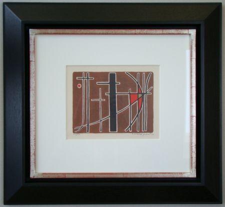 Litografía Quentin - Composition - 1956