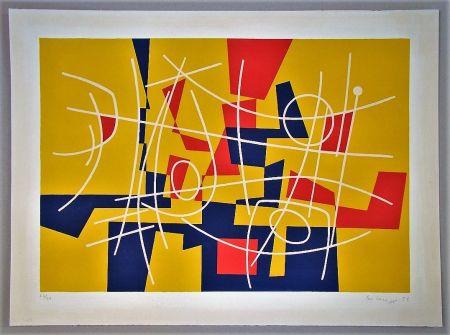 Litografía Leuppi - Composition - 1958