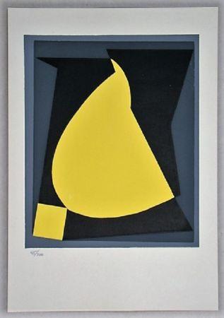 Serigrafía Vasarely - Composition - Geh durch den Spiegel