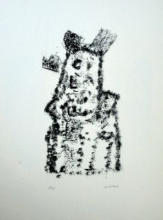 Litografía Michaux - Composition 116
