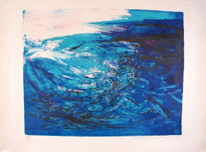 Litografía Zao - Composition 164