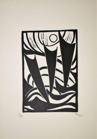 Grabado En Madera Maatsch - Composition, 1922