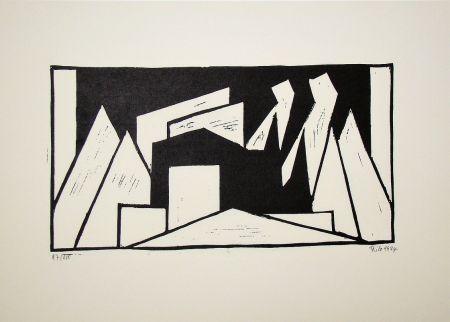 Grabado En Madera Maatsch - Composition, 1924