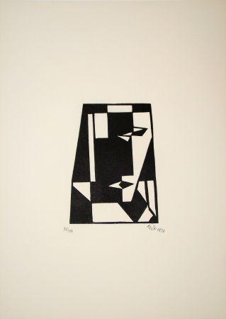 Grabado En Madera Maatsch - Composition, 1926