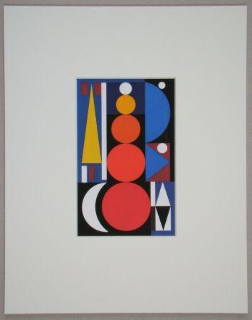 Serigrafía Herbin - Composition, 1949