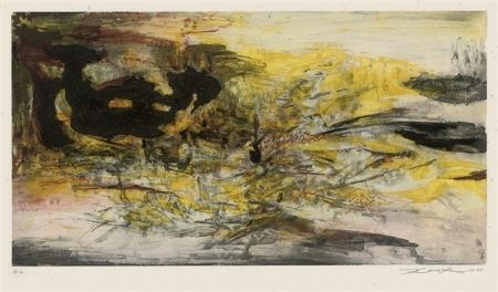 Aguafuerte Y Aguatinta Zao - Composition 195