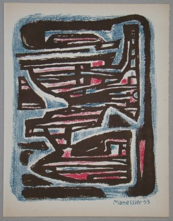Litografía Manessier - Composition, 1953