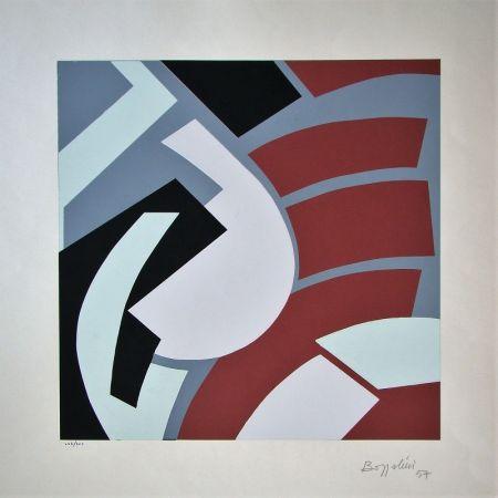 Serigrafía Bozzolini - Composition, 1954