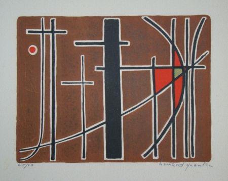 Litografía Quentin - Composition, 1956