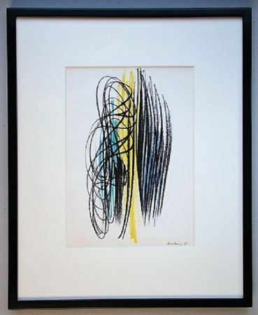 Litografía Hartung - Composition 1958