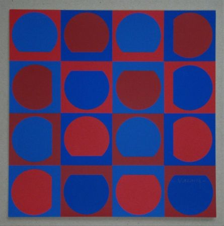 Serigrafía Vasarely - Composition, 1964