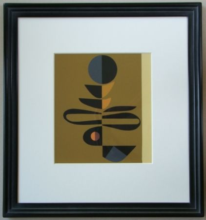 Serigrafía Pillet - Composition, 1967