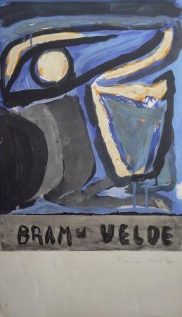 Litografía Van Velde - Composition 1970