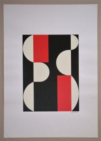 Serigrafía Béöthy Steiner - Composition, 1970