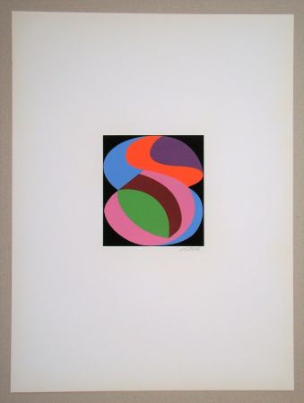 Serigrafía Béöthy Steiner - Composition, 1972