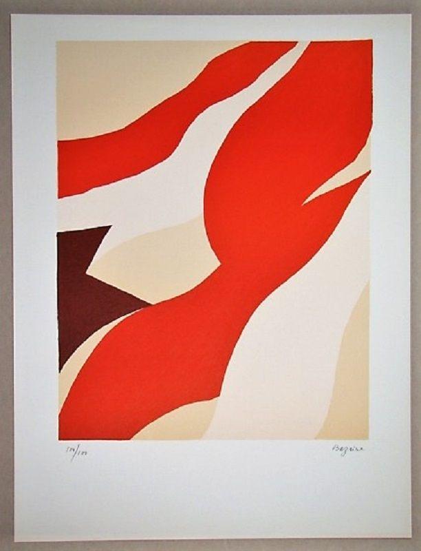 Litografía Bazaine - Composition 1974