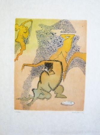 Aguafuerte Y Aguatinta Tanning - Composition 3