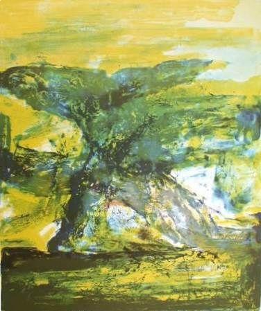 Litografía Zao - Composition 398