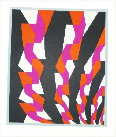 Litografía Hinterreiter - Composition 5