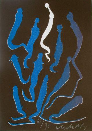 Litografía Alechinsky - Composition 5/8
