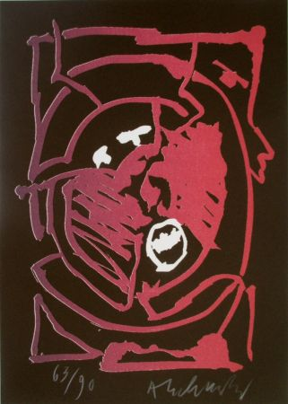 Litografía Alechinsky - Composition 7/8