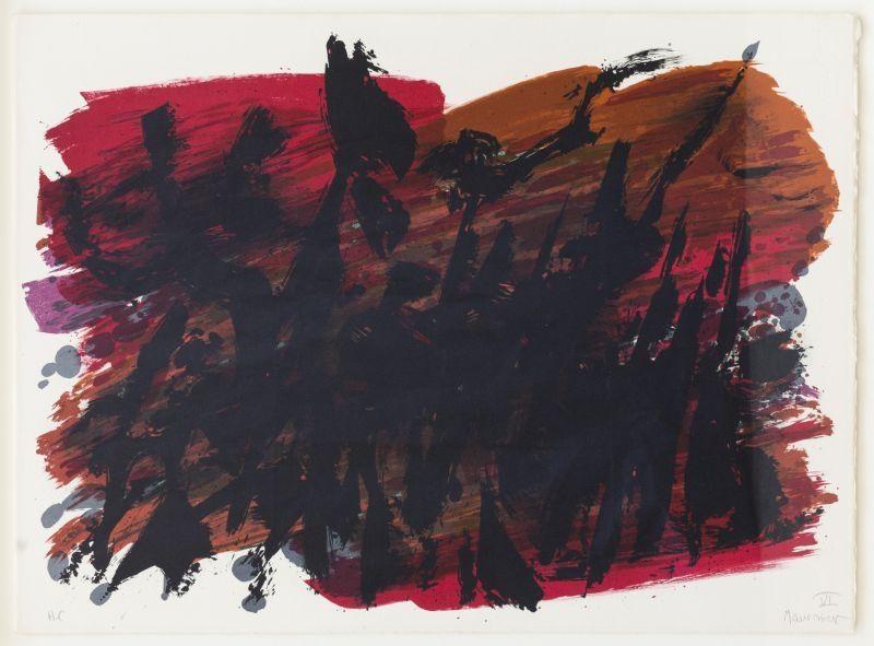 Litografía Manessier - Composition abstraite