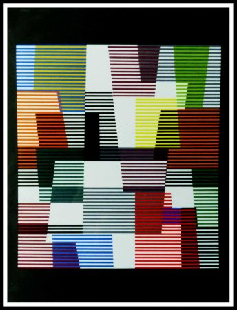 Litografía Agam - Composition abstraite