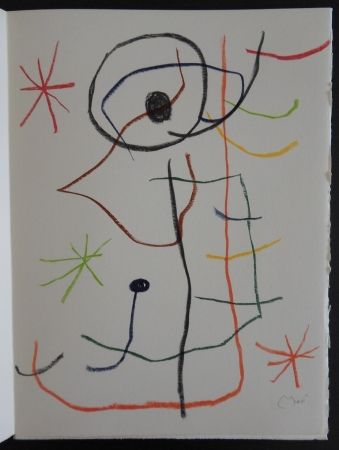 Litografía Miró - Composition abstraite