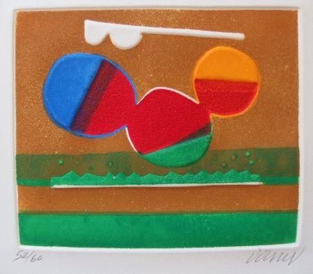Aguafuerte Y Aguatinta Dorny - Composition abstraite