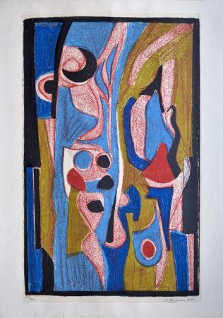 Litografía Brignoni - Composition abstraite