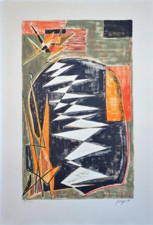 Litografía Deyrolle - Composition abstraite
