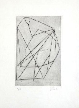 Grabado Gilioli - Composition abstraite
