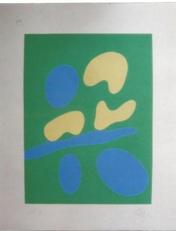 Serigrafía Arp - Composition abstraite