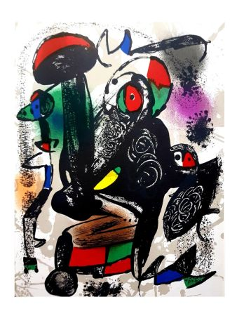 Litografía Miró - Composition Abstraite