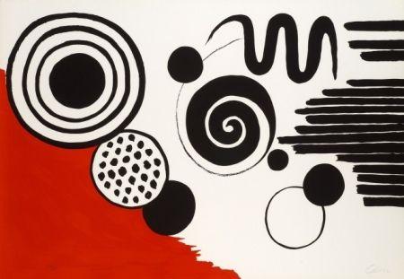 Litografía Calder - Composition au serpent noir