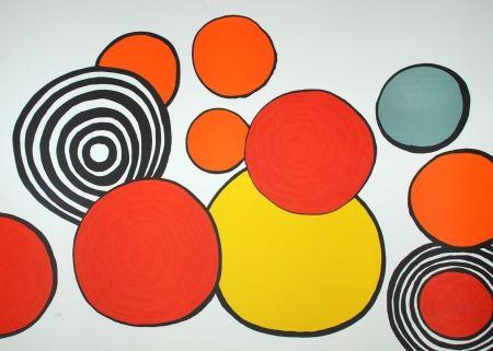 Litografía Calder - Composition Aux Cercles