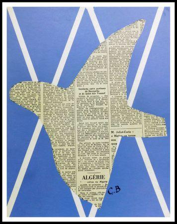 Litografía Braque - COMPOSITION AUX OISEAUX