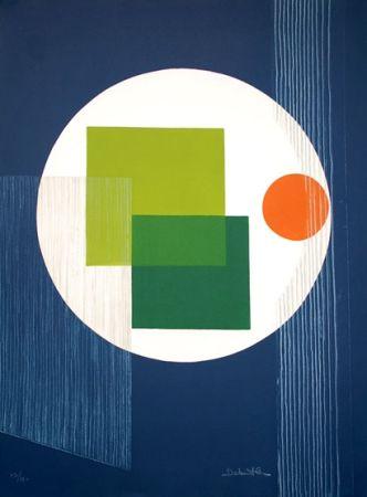 Aguafuerte Debutler - Composition Bleu