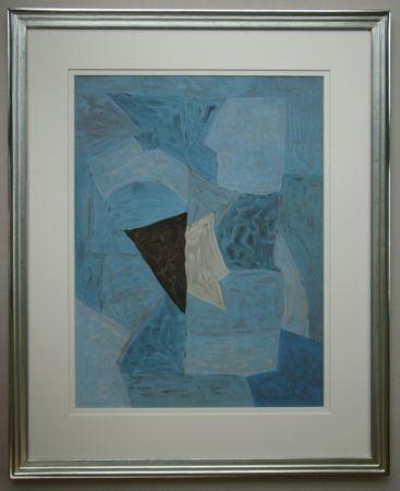 Litografía Poliakoff - Composition bleue