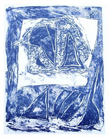Litografía Humair - Composition bleue 1