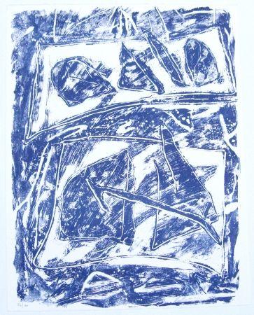 Litografía Humair - Composition bleue 2