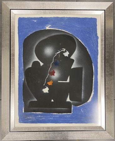 Grabado Kijno - Composition bleue, ca