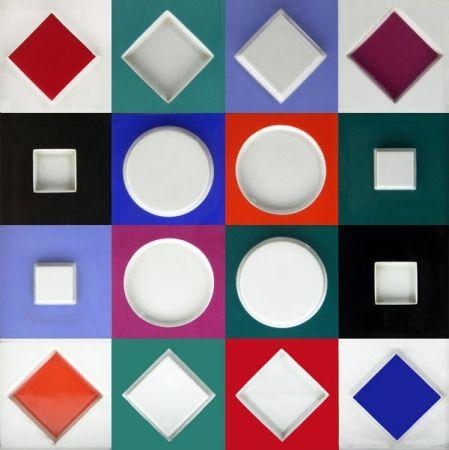 Sin Técnico Vasarely - Composition Carrée Relief, 1970