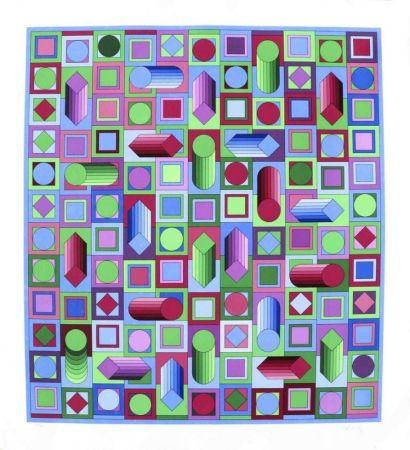 Serigrafía Vasarely - Composition cinétique