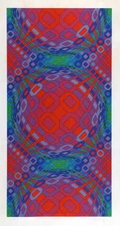 Serigrafía Vasarely - Composition Cinétique 1