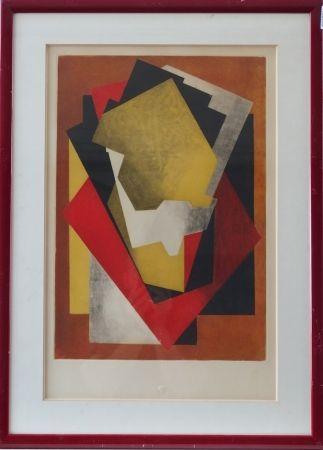 Aguafuerte Y Aguatinta Villon - Composition cubiste