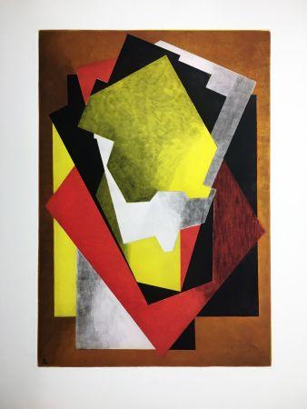 Aguafuerte Y Aguatinta Villon - Composition Cubiste (1927)