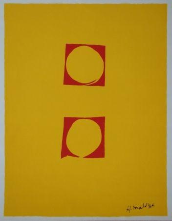 Serigrafía Matisse - Composition Deux cercles