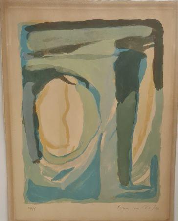 Litografía Van Velde - Composition en bleu et vert